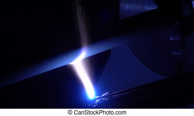Laser firing workpiece parts. Plasma spraying, metal...