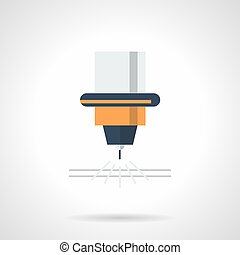 Laser for metal flat color vector icon - Symbol of laser for...