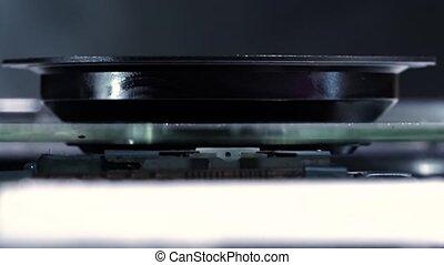 Laser-head of DVD drive, macro shot HD