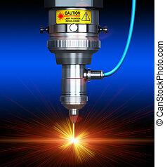 laser, holle weg, technologie