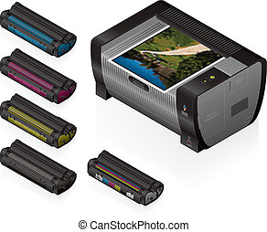 Laser Jet Printer & Cartridges - Medium Home Color Photo ...