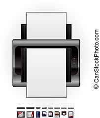Laser Jet Printer & Memory Cards - Medium Home Color Photo ...