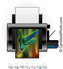 Laser Jet Printer Option Icons - Medium Home Color Photo ...