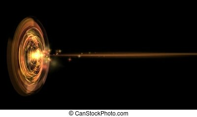 Laser launch from a circular aperture, seamless loop, HD