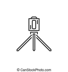 Laser level Tool outline vector icon or design element