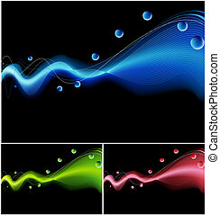 Laser Light Background with energy beam and sphere elements.