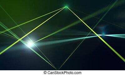 Laser light on gradient background