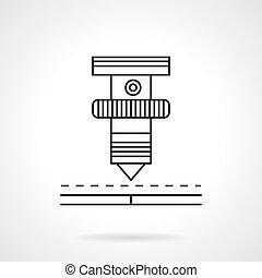 Laser machine element flat line vector icon