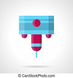 Laser machine nozzle flat color vector icon - Abstract color...