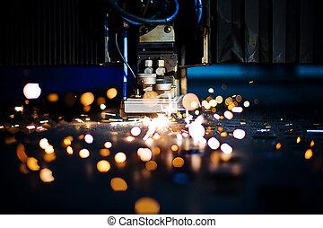 laser, primo piano