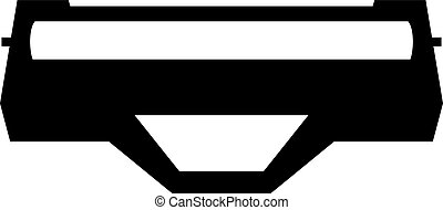 Laser printer toner cartridge, shade picture