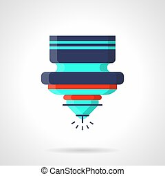 Laser processing flat color vector icon - Abstract symbol of...