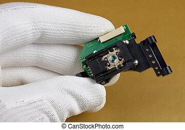 laser, qualità, unità, controlli, congegni, tecnico, audio, mobile