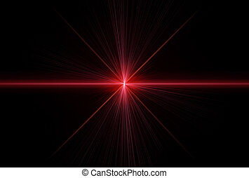 Special effect with laser rays