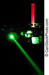 laser rubí, instalación, barra