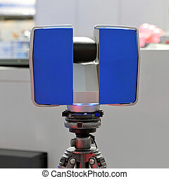 Laser scanner - Portable 3d laser scanner at tripod