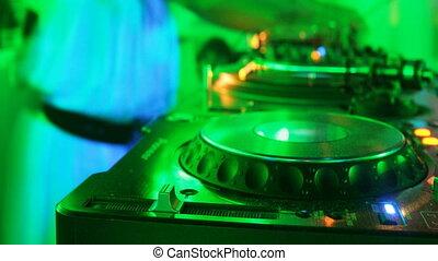 laser show at nightclub