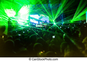 Laser show at the concert