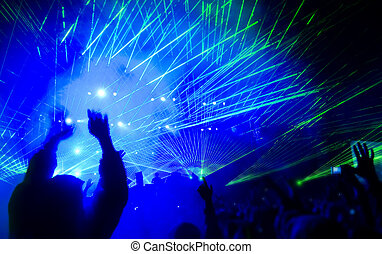 Laser show at the concert - Laser show at the concert,...