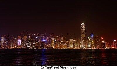 Laser show in Hongkong - Night time-lapse
