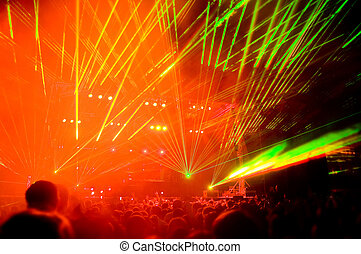 Laser show  - Laser show, blurred motion