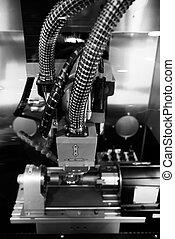 laser, snijder, in, een, fabriek