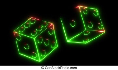 laser, spielwürfel, kasinovorzeichen, animation, video