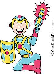 laser tag uniform cartoon.