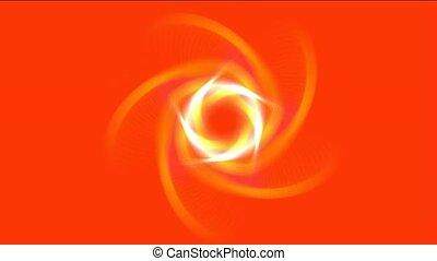 laser, tunnel, doré, lumière, tourbillon