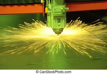 laser, výstřižek, kov