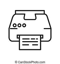 laser, vector, diseño, ilustración, impresora