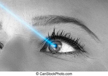 Laser Vision Correction Concept Photo Of Young Woman