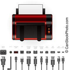 laserjet, impressora