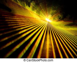 lasershow, 黃色