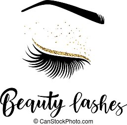 Vector illustration of beauty lashes