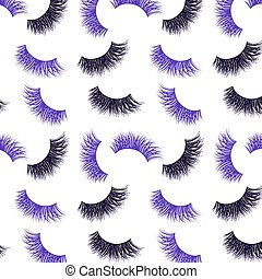 Lashes vector pattern with gold glitter effect
