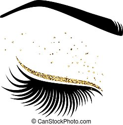 lashes., vetorial, ilustração