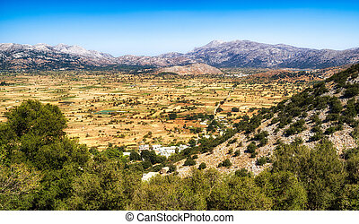 Lasithi plateau in Crete, Greece