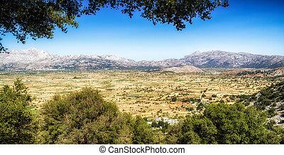 Lasithi plateau in Crete, Greece