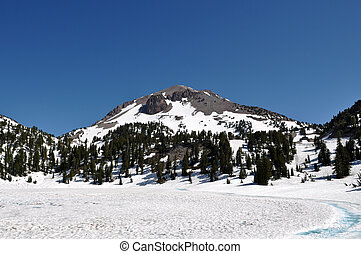 Lassen National Volcanic Park Snow Cap Peak