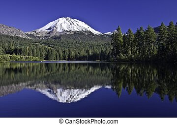 Lassen Peak Reflection - Lassen Peak, reflection at ...