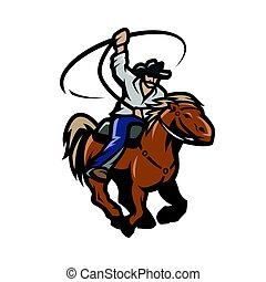 lasso, horse., cow-boy