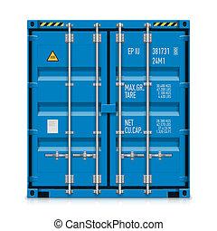 last behållare, gods, skeppning
