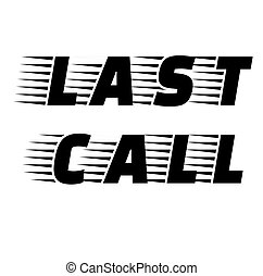 Last Call stamp on white