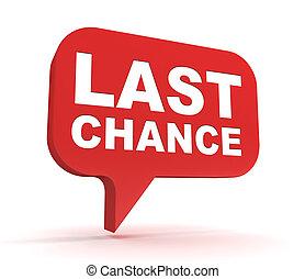last chance concept 3d illustration - last chance 3d ...