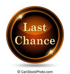 Last chance icon. Internet button on white background.