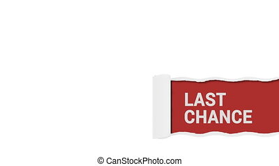 Last chance sign shot clip