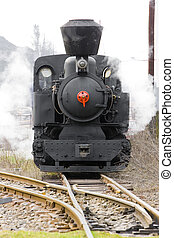 steam locomotive - last day of service of CKD steam...