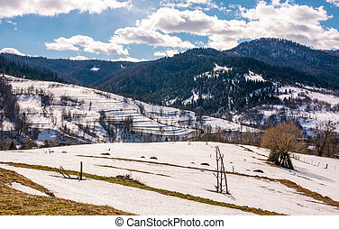 last days of winter in rural landscape - spring is comming....