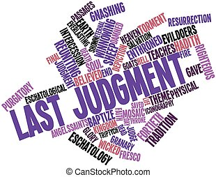 Last Judgment - Abstract word cloud for Last Judgment with...